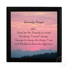 Serenity Prayer Pink Sunset Gift Box #religion #faith #prayers