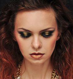 black & gold evening makeup tutorial