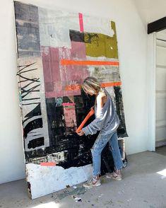 Abstract Oil, Creative People, Art Studios, Painting Techniques, Creative Inspiration, Collage Art, Art Inspo, Modern Art, Pop Art