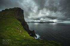 Trøllanes, Kalsoy island. - Trøllanes, Kalsoy island.  Faroe Islands