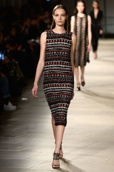 Narciso Rodriguez intarsia dress