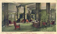 Postcard of the Algonquin Hotel