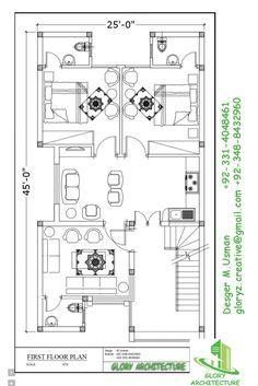 25X45 House plan – Glory Architecture