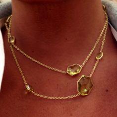 Ippolita gold & citrine necklace