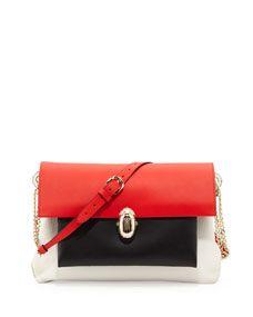 Scarab Medium Triple-Pocket Shoulder Bag, Multi