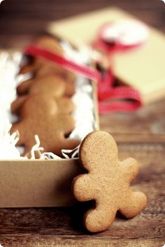 A beautiful shot of a great Christmas classic. gingerbread cookies