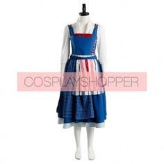 Beauty and the Beast Belle Maid Blue Dress Cosplay Costume Princess Belle Dress, Disney Princess Dresses, Disney Dresses, Disney Cosplay Costumes, Halloween Costumes, Beauty And The Beast Costume, Maid Cosplay, Blue Dresses, How To Wear