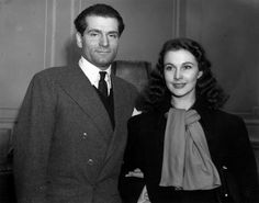 13th January 1941: Actor Laurence Olivier (1907 - 1989) with his wife, actress Vivien Leigh (Vivian Mary Hartley) (1913 - 1967) after their arrival in England from Hollywood to play their part in WW II. Olivier hopes to join the RAF and Vivien Leigh intends to join a touring company. (Photo by George W. Hales/Fox Photos/Getty Images)