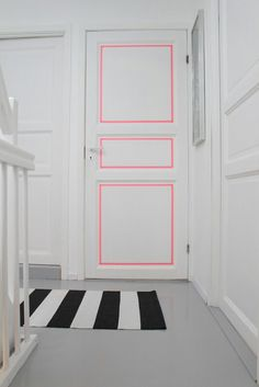 Washi tape to emphasize a door...my girls would LOVE this. Maybe even my boys!