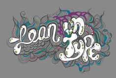 Lean on Type #graffiti #type #typography #brush