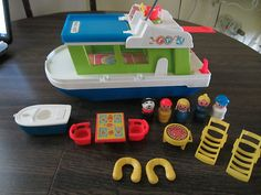 Fisher Price vintage Houseboat. One of my fave toys as a kid and now I have in my collection.
