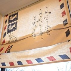 This would be a fun travel theme for a room or even in a travel trailer. Window Blind