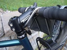 Handlebar bag with DIY removable support - Bike Forums