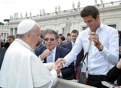 Juan Martin del Potro meets the Pope