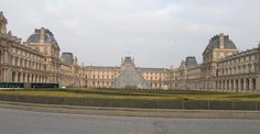 Paris, France - The Louvre dates back to the 1200 built for defense purposes.  Charles V in the 14th century changed it to be his residence.