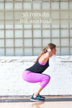 this 30 minute at-home hiit workout will get your heart rate up while strengthening your upper body, lower body, and core – all using just your bodyweight.