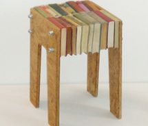bücherfreak hocker #book