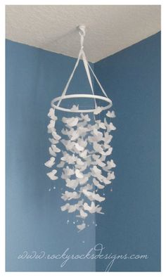 White Vellum Butterfly Mobile. $50.00, via Etsy.