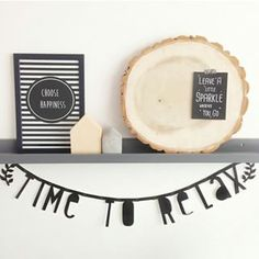 Time to relax - Buy it at www. Licht Box, Letter Wall Decor, Before And After Diy, Tower House, Diy Banner, Diy For Teens, Cozy House, Wall Signs, Interior Styling