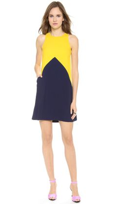 Lisa Perry Crepe Pieces Dress.
