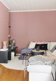 Love this pink shade Peach Bedroom, Pink Bedrooms, Bedroom Wall Colors, Bedroom Decor, Deco Studio, Deco Rose, Pink Room, New Room, Living Room
