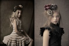 Bonnie Young fall 2013 childrens lookbook features a retro themed photoshoot