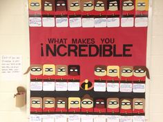 The Incredibles interactive bulletin board #reslife #Disney/Pixar