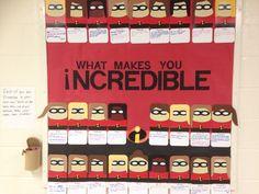 The Incredibles interactive bulletin board #reslife #Disney/Pixar