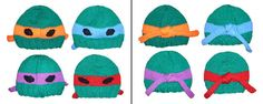 Teenage Mutant Ninja Turtle Beanie | 19 Nerdy Knits You Need To Knit Right Now