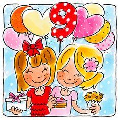 Kaart - Negen Jaar - Greetz Amsterdam Party, Blond Amsterdam, Jumping For Joy, Pikachu, Funny Pictures, Doodles, Happy Birthday, Illustration, Cute