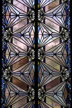 Art Deco stained glass window, Boston Avenue Methodist Church, Tulsa, Ok Stained Glass Door, Stained Glass Designs, Leaded Glass, Motif Art Deco, Art Deco Design, Art Nouveau, Mosaic Art, Mosaic Glass, Mosaics