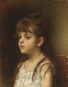 "Alexej Alexejewitsch Harlamoff (Russian, 1840-1925), ""Portrait of a Girl"""