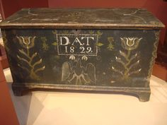 Amazing Tulips and eagle paint decoration on this chest from the Dewit Walace…