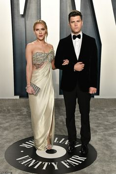 Lean on me: While Scarlett Johansson missed out on a golden statue tonight, she seemed to ...