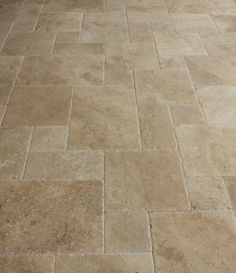 Travertine Tile - Antique Pattern Sets - Meandros Walnut Standard Antique Pattern Brushed, Chiseled, and Unfilled