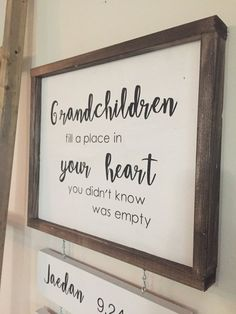 Powerful Tips For Getting The Most Out Of Your Customized Home Decor - Budget Home Improvement Ideas Personalized Wedding Gifts, Personalized Signs, Grandkids Sign, Beautiful Compliments, Thanksgiving Signs, Holiday Signs, Diy Signs, Name Signs, Home Improvement Projects