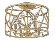 Hinkley Lighting carries many Champagne Gold Eve Interior Ceiling Mount light fixtures that can be used to enhance the appearance and lighting of any home.