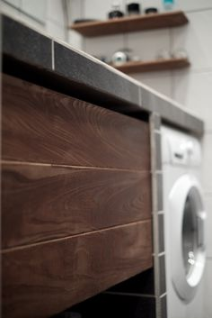 Oiled ash bathroom drawer and shelf Bathroom Drawers, Oslo, Washing Machine, Shelf, Home Appliances, Furniture, House Appliances, Shelving, Shelving Units