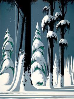 Eyvind Earle - Yosemite - Amazing Illustration style