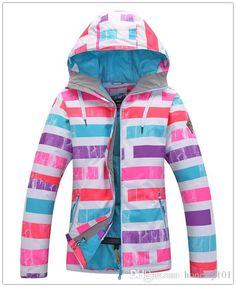 f61e76b408 Gsou Snow Women s Ski Jacket Female Skiing Tops Multicolour Stripes  Snowboarding…