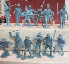 MARX ZORRO ALAMO PLAYSET 5 ROUND HAT 5 SHAKO MEXICAN FLAT BLUE 1960s TOY SOLDIER #MARX