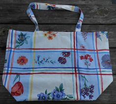 Shopping Tote Large-Eco Friendly-Grocery Bag-Diaper Bag-Beach Bag-Carry On-Library Tote-Craft Bag-Market Bag-Reusable-Washable-Blossoms by sewlittletime2009 on Etsy