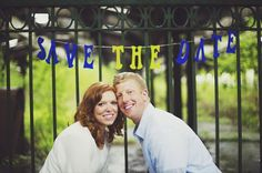 """""""save the date"""" - engagement session (photo by michelle gardella photography)"""