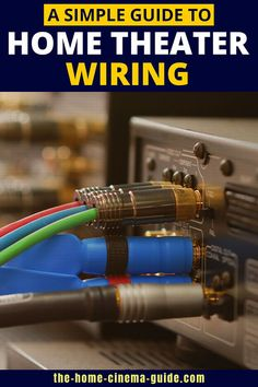 All those connections and cables in your home theater system can seem confusing. All is revealed in my guide to home theater wiring. Home Theater Wiring, Home Theater Setup, Surround Sound Speakers, Audio, Home Cinemas, Connection, Wire, House, Accessories
