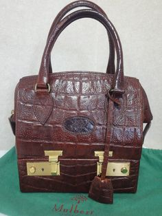 Hey, I found this really awesome Etsy listing at https://www.etsy.com/listing/247255828/mint-vintage-mulberry-croc-embossed