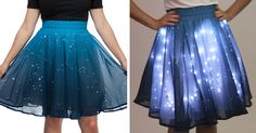 If you're somebody who's always reaching for the stars then this Twinkling Stars Skirt is for you. It glows with more than 250 LED lights and it's sure to make you shine brightly even on the darkest of days.