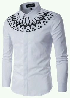 Cheap shirt making, Buy Quality shirt clipart directly from China shirt denim men Suppliers: Camisa Masculina Slim Fashion Men Shirt 2017 New Brand Casual Long-Sleeved Chemise Homme Camisa Masculina large size African Shirts For Men, African Dresses Men, African Men Fashion, African Wear, African Attire, Fashion Men, African Style, White Fashion, Fashion Brand