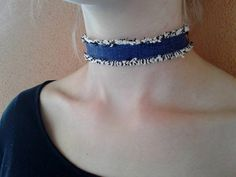 Mix 3 of your favorite trends with this denim & fringe choker! Add it to your accessory collection for only $5! #PlatosClosetTuscon! #LoveIt #FringeBinge #BearDown #UofA #AZ #LoveLoveLove #UofA #Tucson | www.platosclosettucson.com