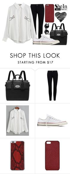 """""""What do you mean ?"""" by joujou-hajar ❤ liked on Polyvore featuring Mulberry, Converse, Valentine Goods, Maison Takuya and Sheinside"""