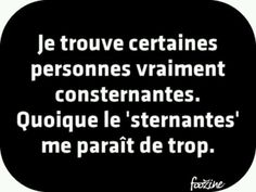 Quoique le 'sternantes… I find some people really appalling. Words Quotes, Love Quotes, Funny Quotes, Inspirational Quotes, Sayings, Quotes Quotes, Mantra, Slogan Tshirt, Lol